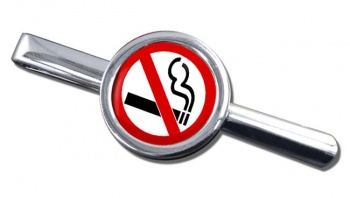 No Smoking Round Tie Clip