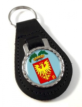 Provincia di Novara (Italy) Leather Key Fob