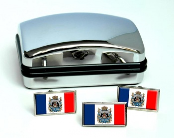 Novgorod Oblast Flag Cufflink and Tie Pin Set