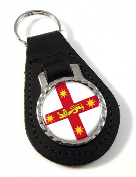 New South Wales, Australia Leather Key Fob