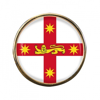 New South Wales Australia Round Pin Badge