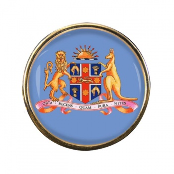 New South Wales Coat of Arms Australia Round Pin Badge