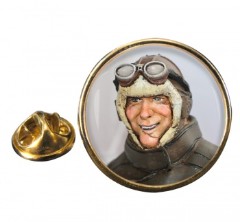 Charles Nungesser Round Pin Badge
