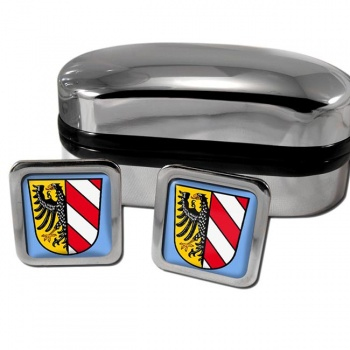 Nurnberg Nuremberg Germany Square Cufflinks