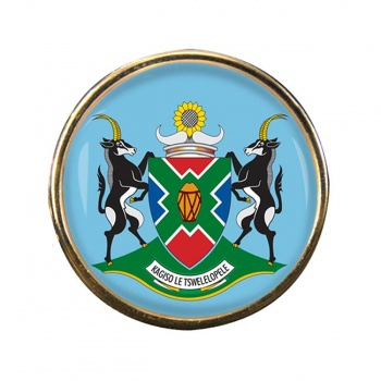 North West (South Africa) Round Pin Badge