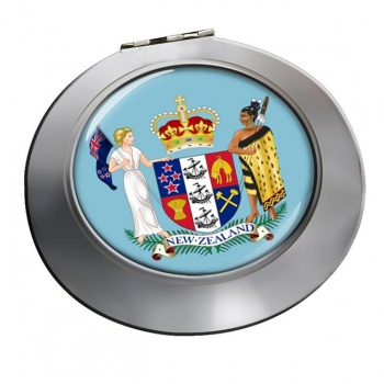 Coat of Arms (New Zealand) Round Mirror