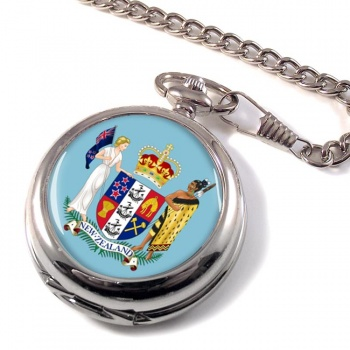 Coat of Arms (New Zealand) Pocket Watch