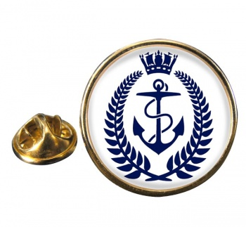 Royal New Zealand Navy Round Pin Badge