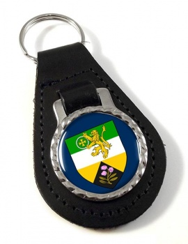 County Offaly (Ireland) Leather Key Fob