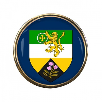 County Offaly (Ireland) Round Pin Badge
