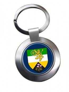 County Offaly (Ireland) Metal Key Ring