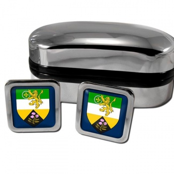 County Offaly Ireland Square Cufflinks