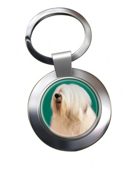 Old English Sheepdog Metal Key Ring