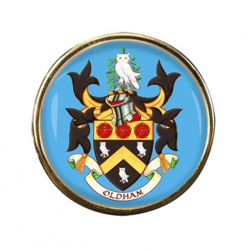 Oldham (England) Round Pin Badge