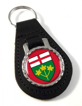 Ontario (Canada) Leather Key Fob