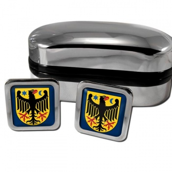Orebro Sweden Square Cufflinks