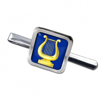Masonic Lodge Organist Square Tie Clip