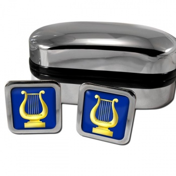 Masonic Lodge Organist Square Cufflinks