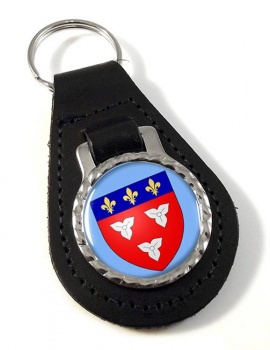 Orleans (France) Leather Key Fob