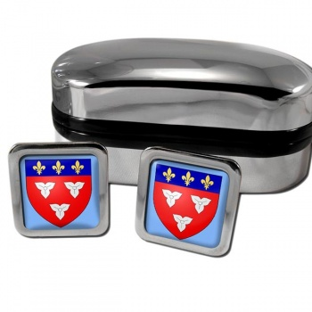 Orleans France Square Cufflinks