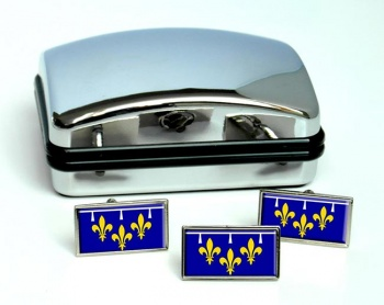 Orleanais (France) Flag Cufflink and Tie Pin Set
