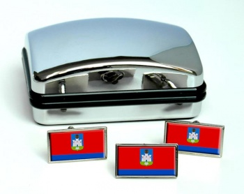 Oryol Oblast Flag Cufflink and Tie Pin Set