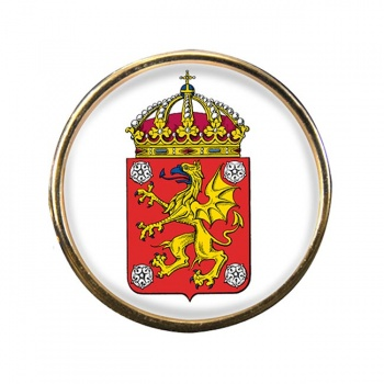 Ostergotland (Sweden) Round Pin Badge
