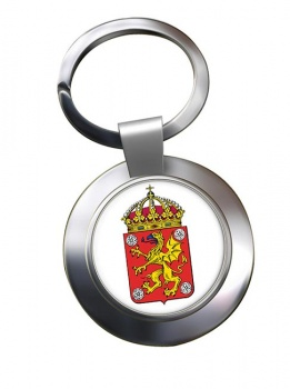Ostergotland (Sweden) Metal Key Ring