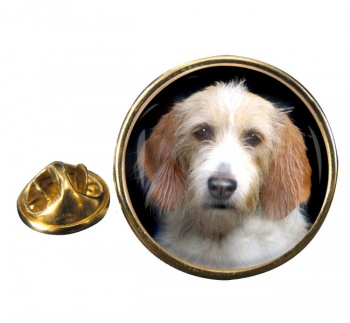 Otterhound Round Pin Badge
