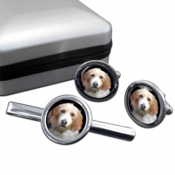 Otterhound  Cufflink and Tie Clip Set