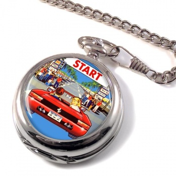Outrun Game Pocket Watch