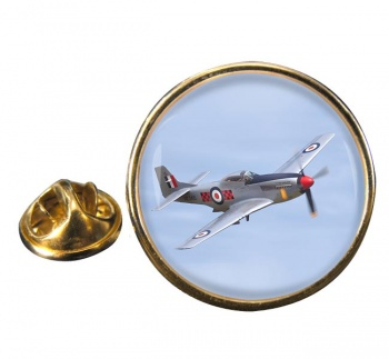 P51 Mustang Round Lapel