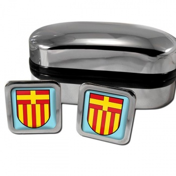 Paderborn Germany Square Cufflinks