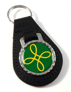 Pagan Happiness Symbol Leather Key Fob