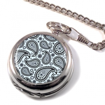 Paisley Mono Pocket Watch