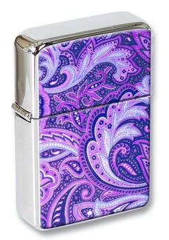 Paisley Purple Flip Top Lighter