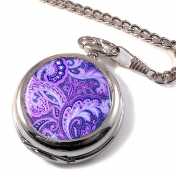 Paisley Purple Pocket Watch