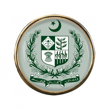 Pakistan Round Pin Badge