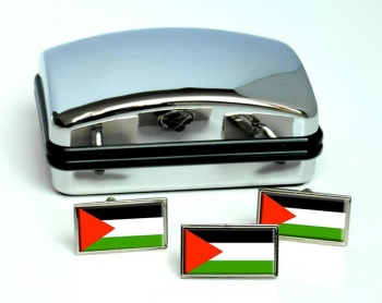 Palestine Flag Cufflink and Tie Pin Set