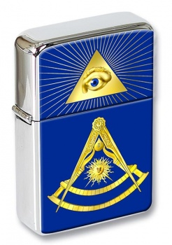Masonic Lodge Past Master Flip Top Lighter
