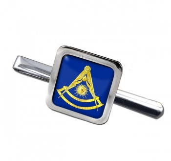 Masonic Lodge Past Master Square Tie Clip