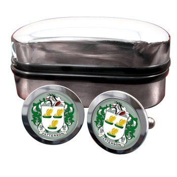Patterson Coat of Arms Round Cufflinks