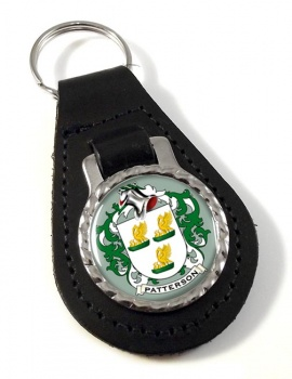 Patterson Coat of Arms Leather Key Fob