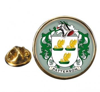Patterson Coat of Arms Round Pin Badge