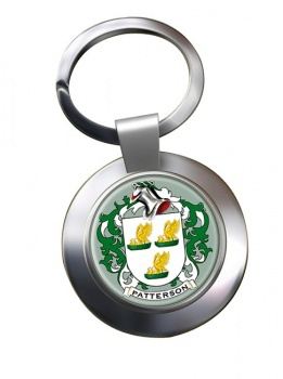 Patterson Coat of Arms Chrome Key Ring