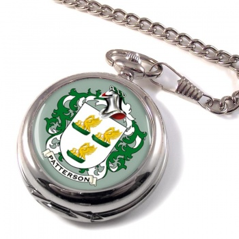 Patterson Coat of Arms Pocket Watch