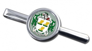 Patterson Coat of Arms Round Tie Clip