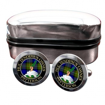 Patterson Scottish Clan Round Cufflinks