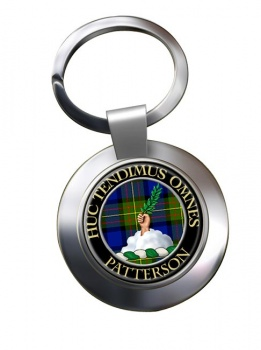 Patterson Scottish Clan Chrome Key Ring