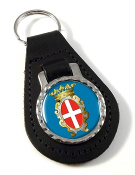 Pavia (Italy) Leather Key Fob